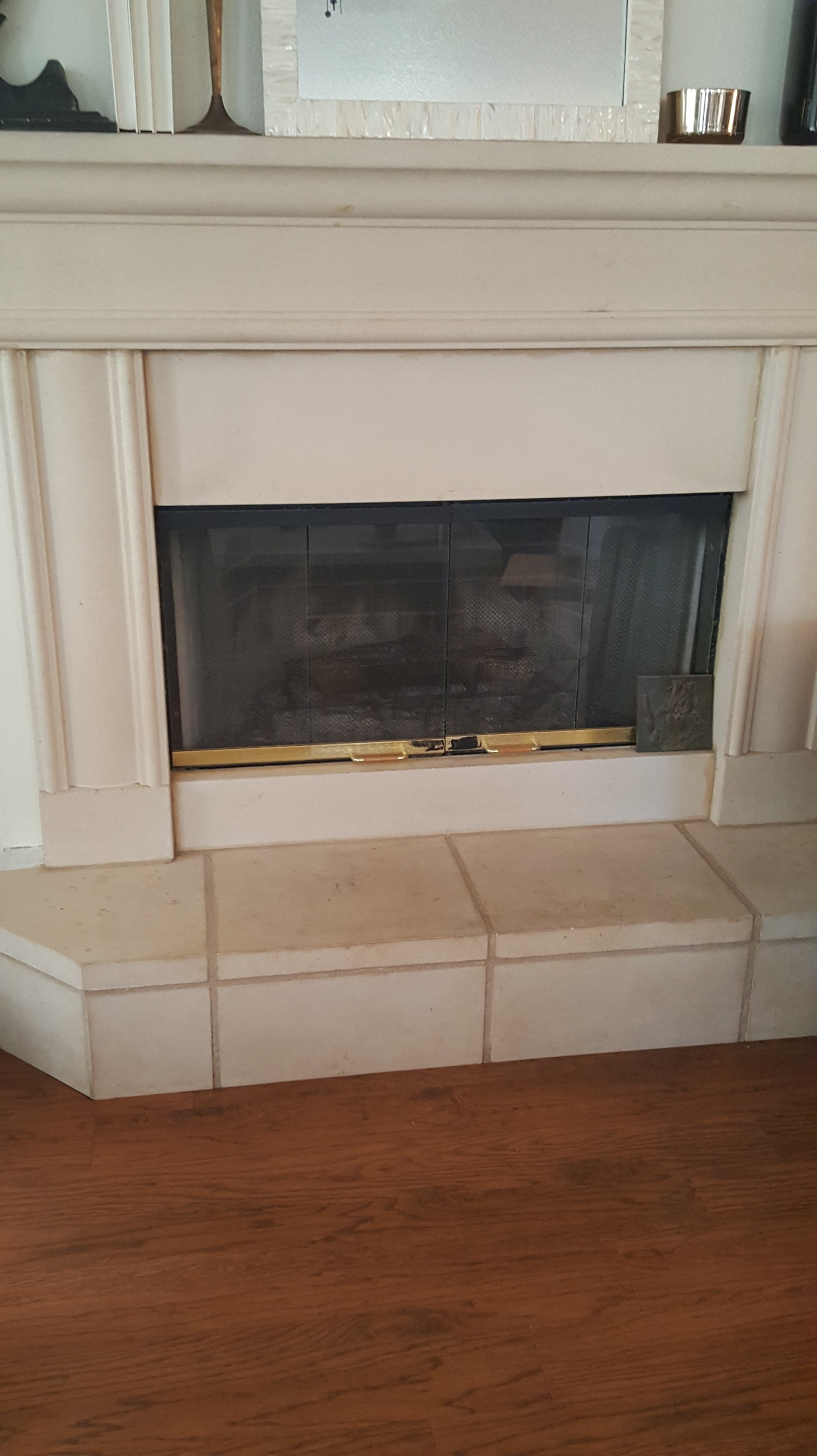 paint your stone fireplace for a whole new look easy diy bees
