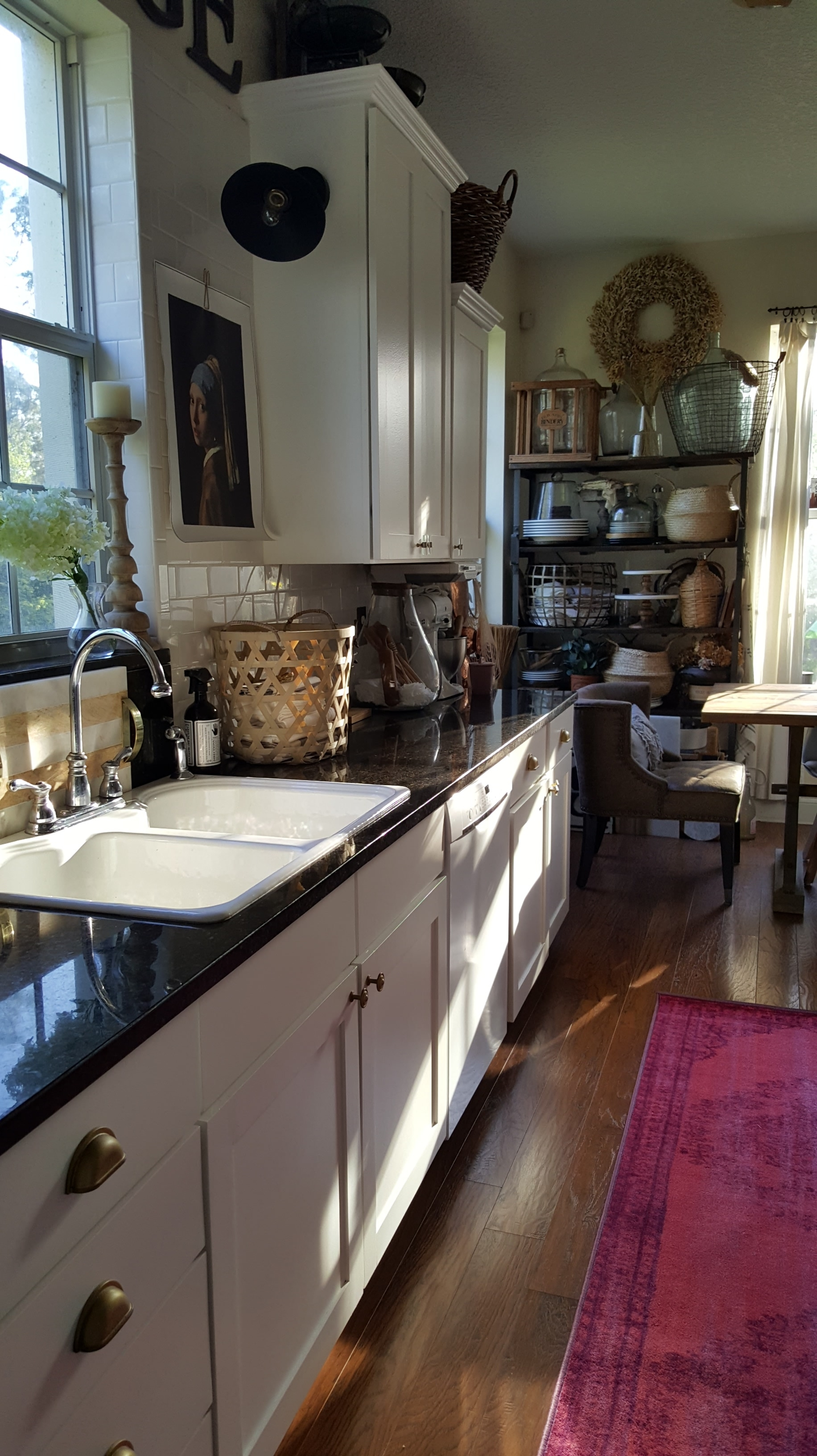 Eclectic Collected Vintage Modern Home Tour - One Room Challenge White Kitchen Makeover