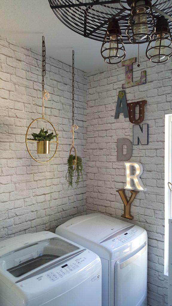 One Room Challenge Urban Industrial Vintage Laundry Room