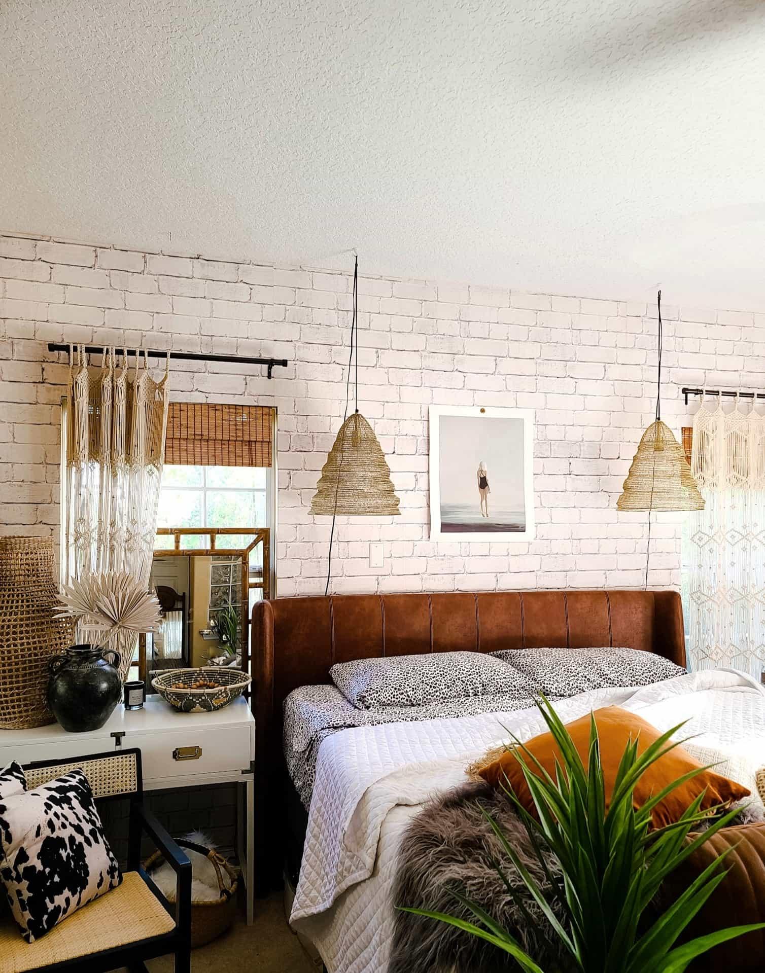 Industrial Boho Master Bedroom Refresh Bees N Burlap